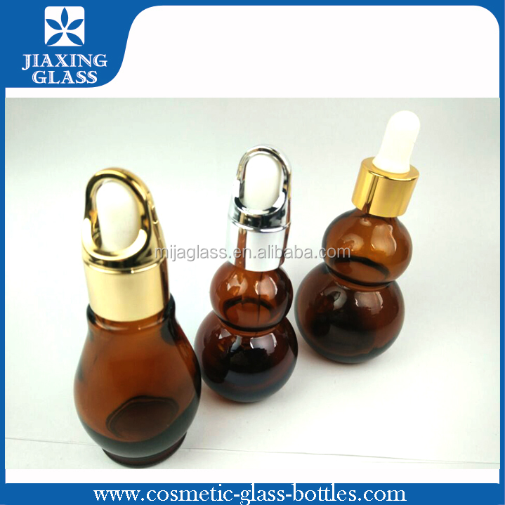 Skin care cream hot stamping 30ml 50ml 100ml glass spray essential oil bottle