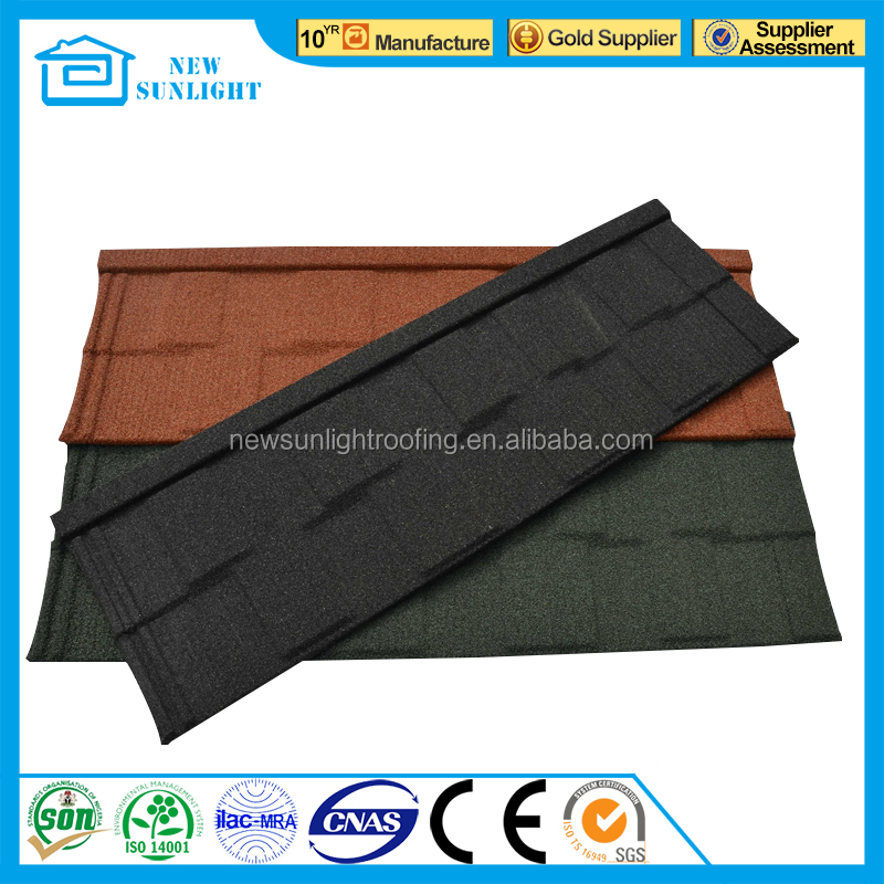 Anti-fade wholesale roof sheet colorful stone chips metal roof tiles with CE certificate