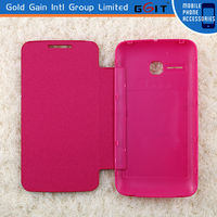 New!! 2014 leather and pc flip battery case cover for alcatel 5020, leather back cover for Alcatel 5020