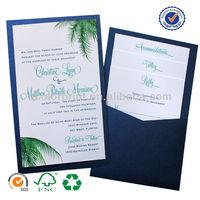 china wholesale your design wedding invitation