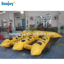 CE Certificated PVC Inflatable Fly Fishing Boat Manta Ray Flying Banana Boat Towable For Sale