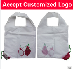 Custom promotional gift bags dragon fruit folded shopping bag