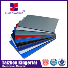 Alucoworld green acp decorative materials high quality color aluminum composite panel roof metal sheets guangzhou