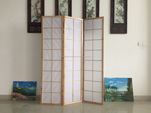 partition space folding shoji screen with 2 colors