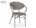 Wholesale outdoor aluminum looks like bamboo cane chair