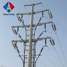 230kv hot-dip-galvanized distribution angle structural steel electric pole cross arm transmission line galvanized tubular tower