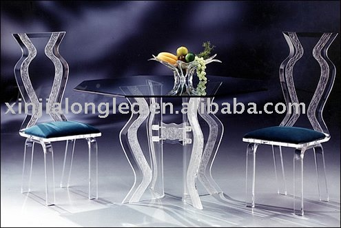 2 lover acrylic dinning table for breakfast