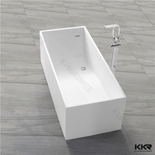 free standing solid surface rectangular hot spa tub