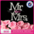 Mr & Mrs Heart Wedding Cake Topper Monogram Silver Rhinestone Decoration Top (Silver)
