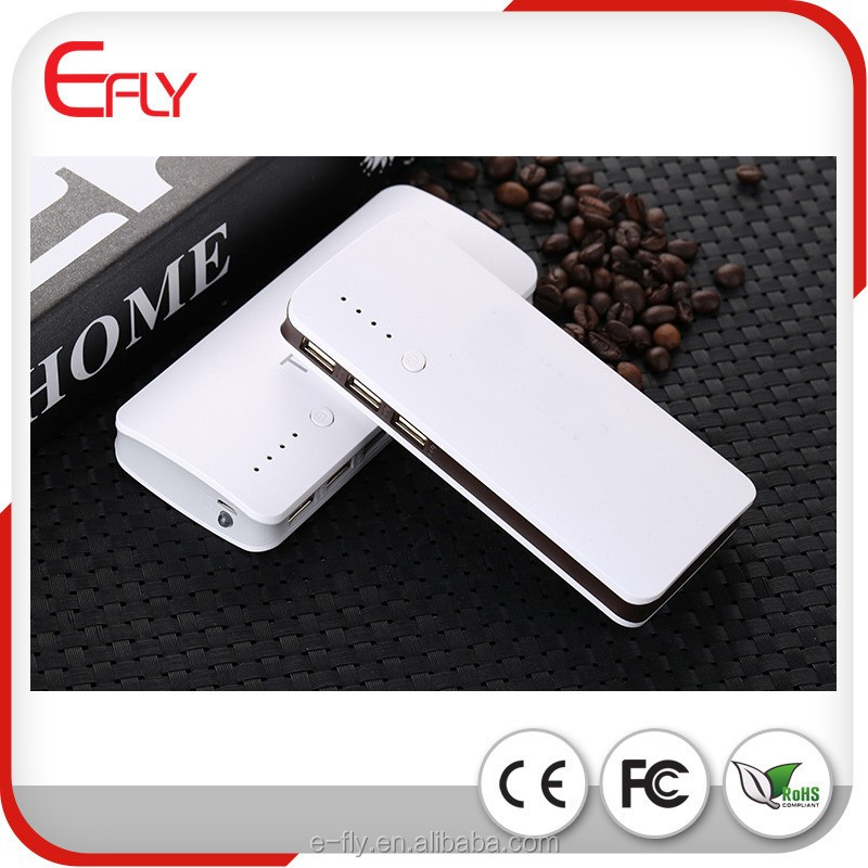 Great Quality flashlight power banks,3port usb power bank 10000mah charger with LED mutli-fuction