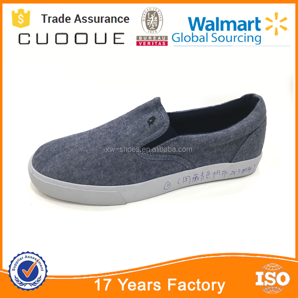 Custom Made Classic Slip-on Men Round Toe Canvas Sneakers