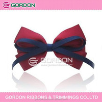 Marsala color hair bow for girls