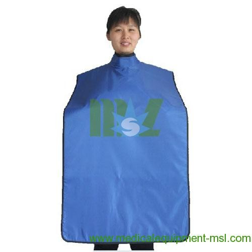 Promotion! X-ray protective high collar lead apron MSLLJ04D