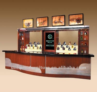 wooden classic bar display counter of funiture