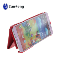 2014 the most popular smart wallet leather case for samsung note 3 with hand strap