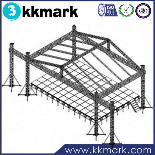 6 pillars / 6 leg tower truss for stage system wtih roof trusses