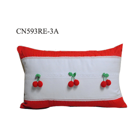 Wholesale top sale custom christmas decorative cushion pillow shame with red cherry