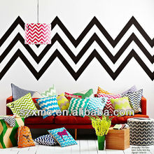 100% cotton home decor design sofa seat chevron stripe knit throw pillow in pillow cover