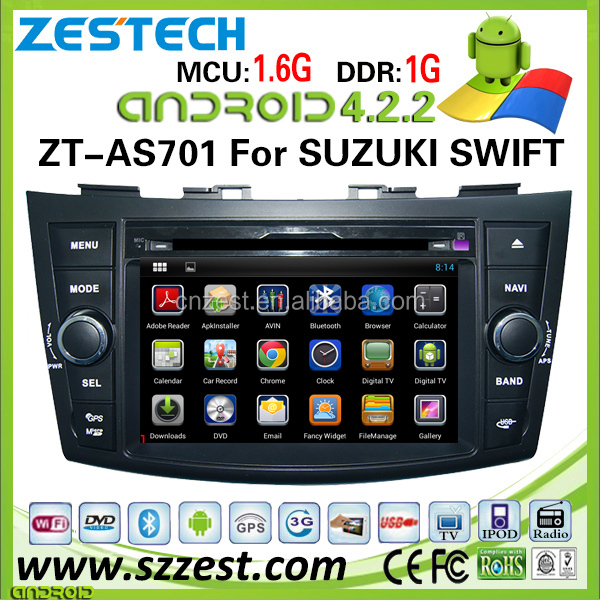 Quad core HD touch screen car dvd for suzuki swift android car dvd player with WIFI/3G/BT/SWC