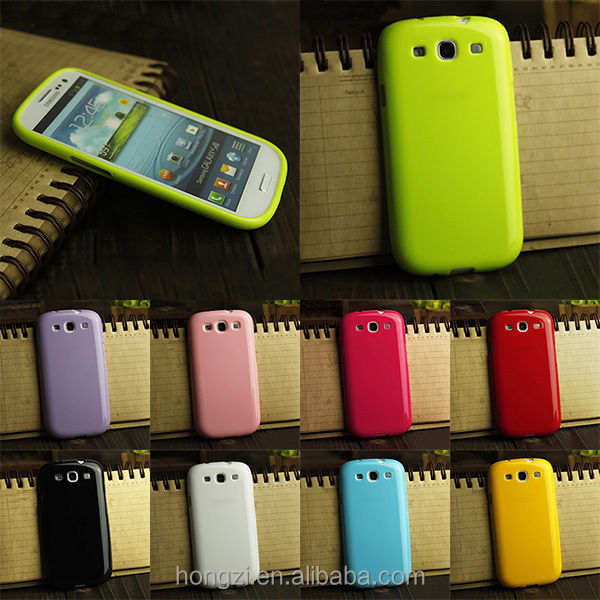 Candy Gel Silicone Case Soft TPU Plastic Cover for Samsung Galaxy S3 SIII I9300 S3 Duos i9300i / S3 Neo i9301 Phone Cases shell