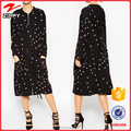 Latest Ladies Western Two-piece Plain Net Hoodie Dress Designs