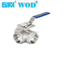 CF8M 1000PSI(wog) ball valve dn40 Pneumatic automatic 3-way ball valve dn8 1/4 inch