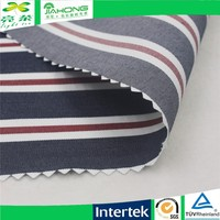 High quality red black white color twill stripe tc fabric for shirt