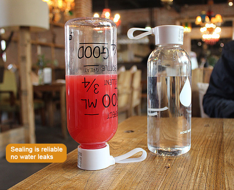 HOT Selling 600ml NOT BPA Portable Plastic Drink Water Bottle With Sport Space Cup