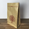 Fancy design kraft paper bag with logo print plastic lining