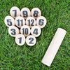 Indoor Entertainment Pine Wooden Number Kubb
