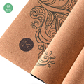 Eco-friendly Printed Outdoor Fitness Cork Yoga Mat With Custom Logo