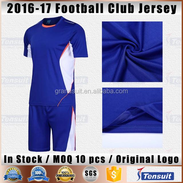 ea61597ca Guangzhou football shirts lastest club team soccer jersey design 2017 dry  fit blank jerseys set wholesale