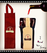 Stand up red wine bag with spout pouch