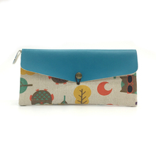 Trendy Ladies Fabric Beautiful Wallets with Zipper