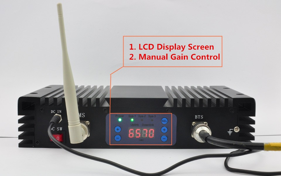 2g 4g signal repeater signal amplifier GSM LTE 900/2600 dual band singal booster