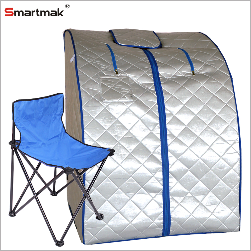 XLarge Infrared IR FAR Portable Indoor Personal SPA Sauna with Heating Food Pad and Chair
