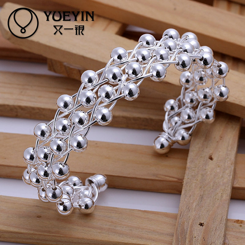 Wholesale alibaba 952 silver jewelry beads bangle