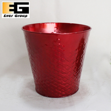 Colorful decorative metal vase for artificial flower