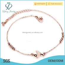 Cute fish charm bracelets and anklets,titanium steel bead ankle bracelet,fashion anklets payal