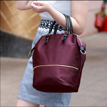 Lady bucket bag/Nylon shoulder bag/crumpled handbag