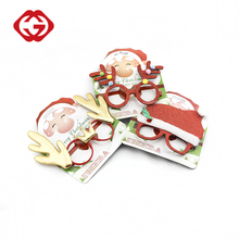 Custom shape funny christmas party glasses for kids decoration