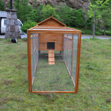Factory directly Wooden chicken coop with large run for sale