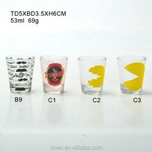 Cute decals clear drinking glass for home use