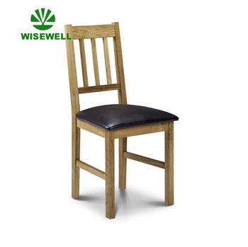 hot sales wooden dining room chair with faux leather seat