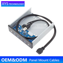 "XYS TECH PC Extension 2ports USB2.0+4ports USB3.0 HUB 5.25 "" CD-ROM 4port USB 3.0 Front Panel/"