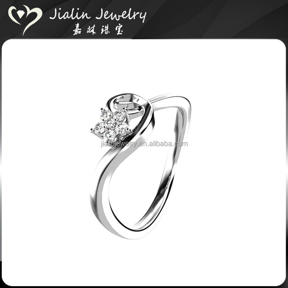 Latest designs jewelry S925 engagement dimond man ring in silver