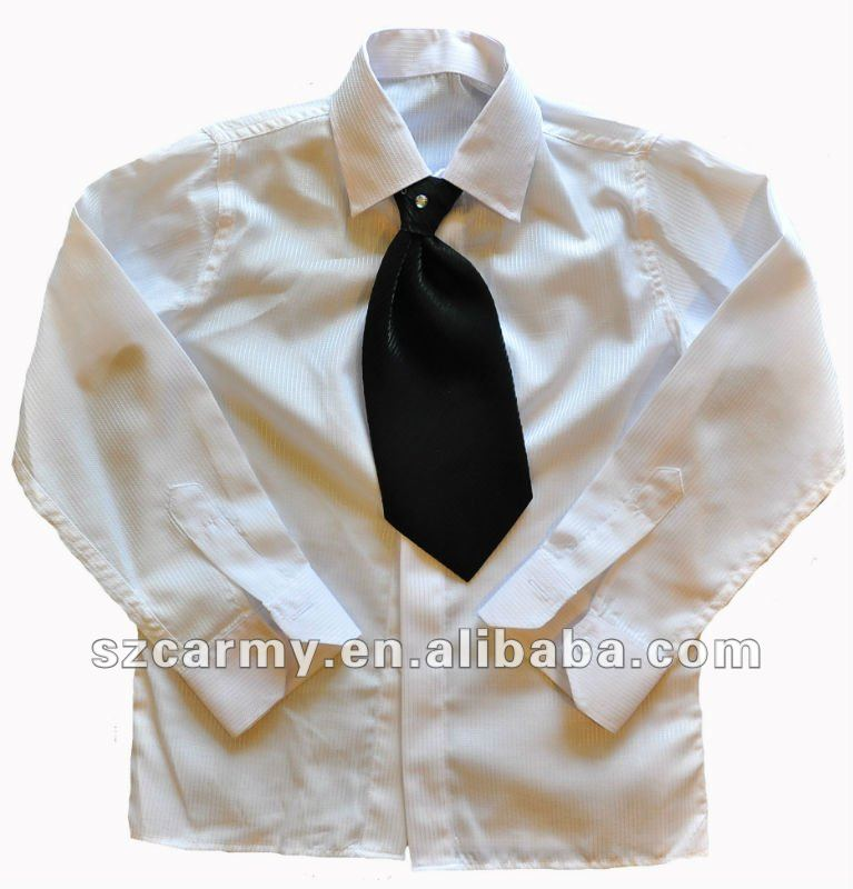 formal and solid color men or boy's shirt with tie