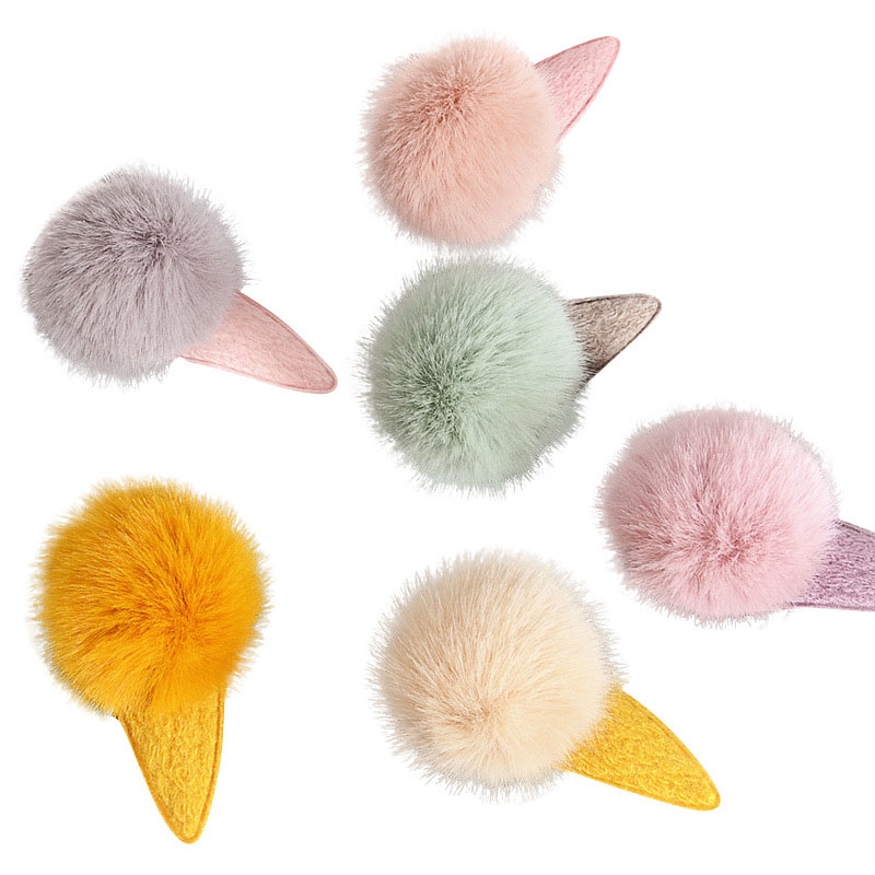 Korean style the cute new children's multi-color pompom hairpin baby <strong>hair</strong> <strong>accessories</strong>