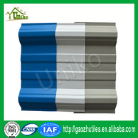 colored one layer recycled bending corrugated pvc roofing sheets