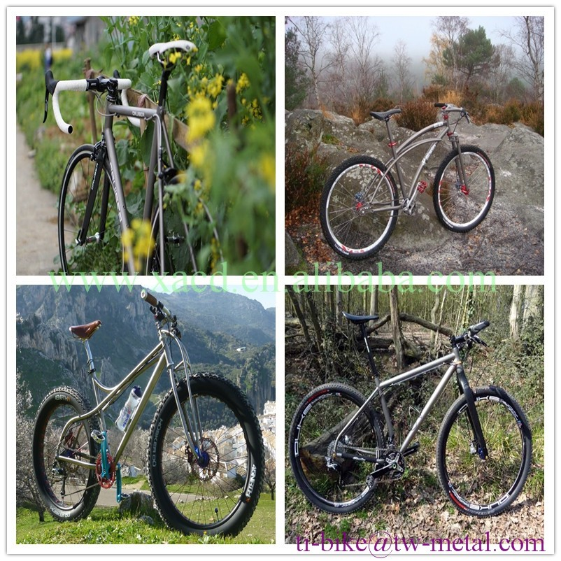 Custom titanium suspension road bike frame, New design Ti shock bike frame with thru through, Cheap Titanium bike frame